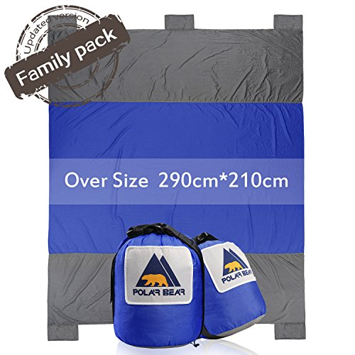 PolarBear Picknickdecke Campingdecke Strandmatte 290cm X 210cm Sand Resistant Reiseunterlage Royal Blau