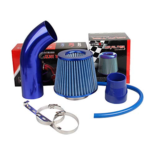 Car Air Intake Premium Cold Air Intake Kit 3 inch by 10.25 feet Air Intake Pipe for Ford Infiniti Mercedes-Benz Porsche Volkswagen,Blue ()