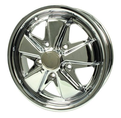 PREMIUM 911 ALLOY WHEEL, All Chrome, 4.5'' Wide, 5 on 130mm