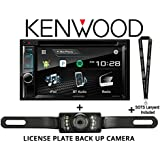 Kenwood DDX395 6.2 In Dash Double Din DVD Receiver with Built in Bluetooth w/ Kenwood DDX395 w/ SV-5130IR license Plate style backup camera and a SOTS lanyard