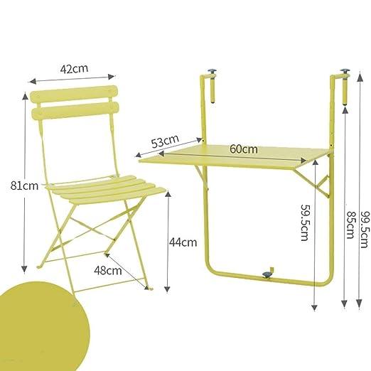 VYN Balcón del hogar Mesas y sillas Mesa de cubierta plegable Mesa ...