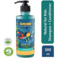 Cocomo Natural, Sulphate and Paraben Free Kids Coconut Shampoo & Conditioner - Minty Sea 300ml (Age: 4 yrs and above)