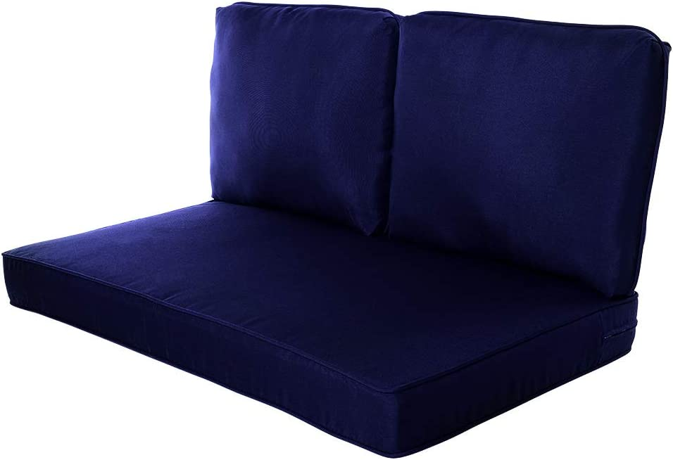 """Quality Outdoor Living 29-NV02LV Loveseat Cushion, 46"""" Width by 26"""" Depth, Navy"""