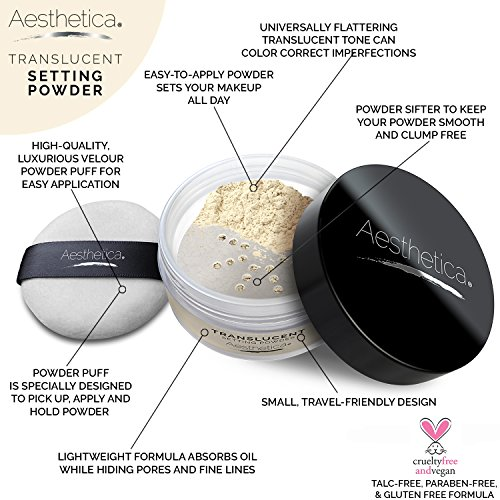 Aesthetica-Translucent-Loose-Setting-Powder--Matte-Finishing-Powder--Flash-Friendly-Includes-Velour-Puff