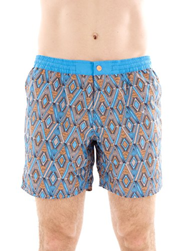 Brunotti Boardshort Swimwear Strandhose blau Clemenza Tunnelzug Muster Gr. L161214609