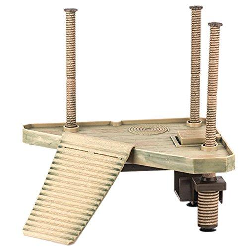 Delight eShop Reptile Turtle Frog Pier Floating Basking Platform Ramp Ladder Tank Decor New (M)