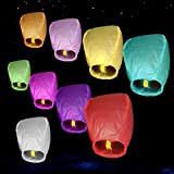 Sky Lanterns, Chinese Paper Flying Lanterns, Night Sky Fly Lanterns 10PCs/Bag (Mixed colors)