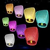 Sky Lanterns, Chinese Paper Flying Lanterns, Night Sky Fly Lanterns 10PCs/Bag (Mixed colors)