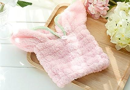 Heelinna Hermosa Forma de Oreja de Conejo Engrosada Absorbente Gorra de baño seco Gorro de Ducha
