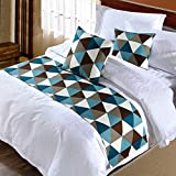 yazi Rectangle Bed Runner Scarf Slipcover Pad Decorative Table Runner/Bed Runner Scarf Queen Bed Protector Slip Cover for Pets 50x240cm/20x95