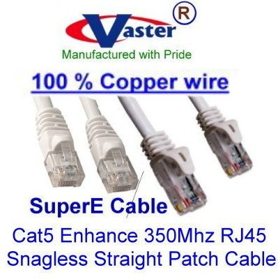 100 Ft UTP Cat5e Beige//Grey Color Ethernet Network Patch Cable UL 24Awg 100/% Copper SuperEcable SKU-20672, 3 Pcs//Pack