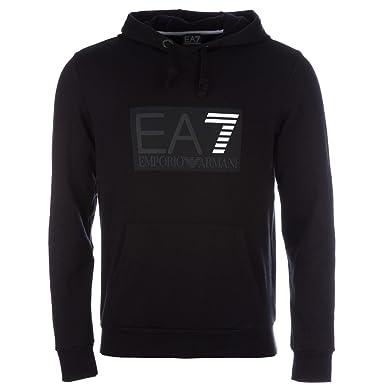fc396a2bc12 Emporio Armani Sweat Homme Capuche EA7 6XPMA0 Logo Hoody Noir (L ...