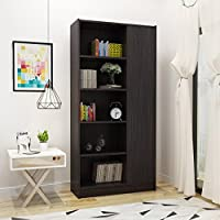 Annabelle Mid Century Wenge Finished Faux Wood Bookcase