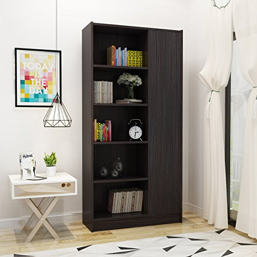 Annabelle Mid Century Wenge Finished Faux Wood Bookcase by Great Deal Furniture