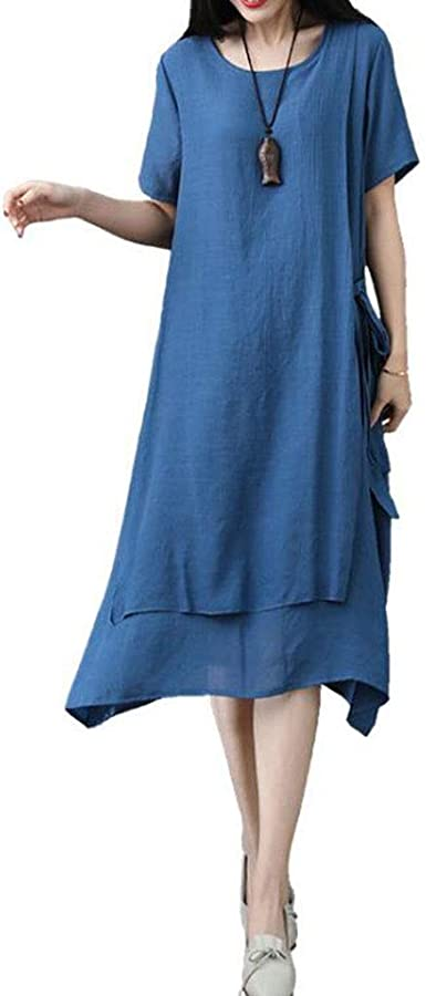 Ladies Dress Vintage Women Women Cotton