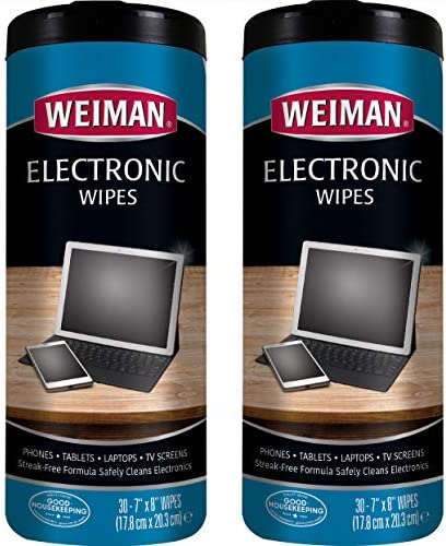 Weiman E-Tronic Wipes 30 count, 2 pack