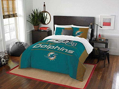 Northwest Miami Dolphins - 3 Piece FULL / QUEEN SIZE Prin...