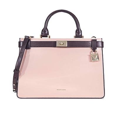 a08a670a1adb Amazon.com  Michael Kors Tatiana Medium Leather Satchel-Pink Purple  Shoes