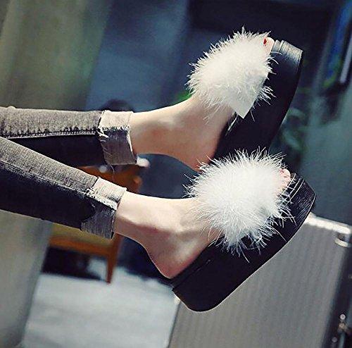 Inverno Bagno Pantofole Casual 36 Cotone Sex Donna Caldo Bianche In Da Peluche HygwXY
