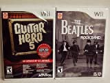 Nintendo Wii The Beatles Rock Band and Wii Guitar Hero 5 Software Bundle