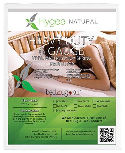 Waterproof Vinyl Pull (Hygea Natural | Vinyl Mattress Cover | XL Twin | Water Proof. Bed Bug Proof. Allergens. Lice. Dust Mites)