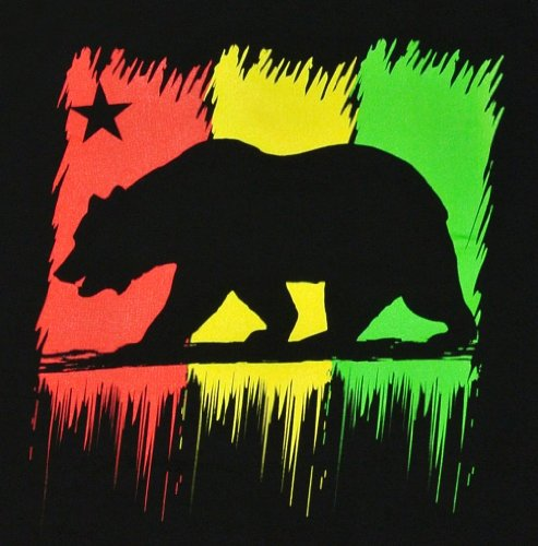 Men S Rasta California Republic Bear Tank Top Shirt L