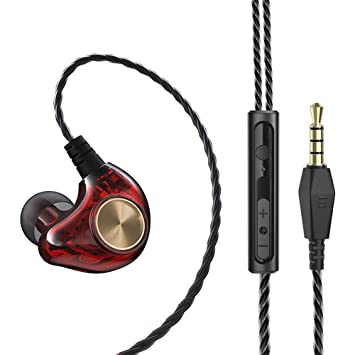 Goglor - Auriculares Deportivos Resistentes al Sudor, con Cable de ...