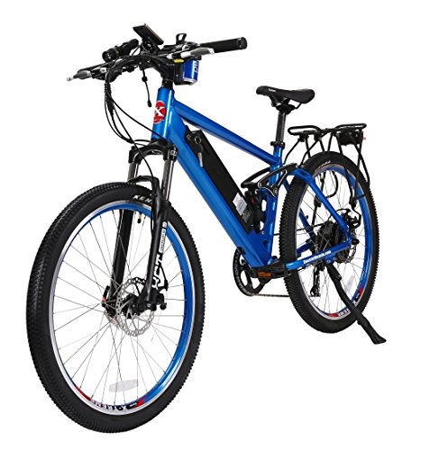X-Treme Scooters - Rubicon Mountain Bicycle Electric Bicycle 48 Volt Lithium - Long Range Electric Bike (Metallic Blue)