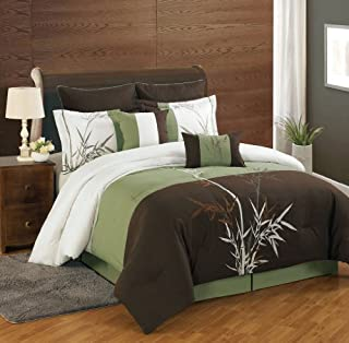 8 Piece Cal King Bamboo Embroidered Comforter Set (B00OHYX72I) | Amazon price tracker / tracking, Amazon price history charts, Amazon price watches, Amazon price drop alerts