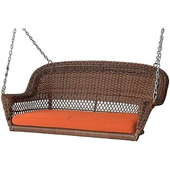 Amazon Com Resin Wicker Hanging Egg Loveseat Swing Chair