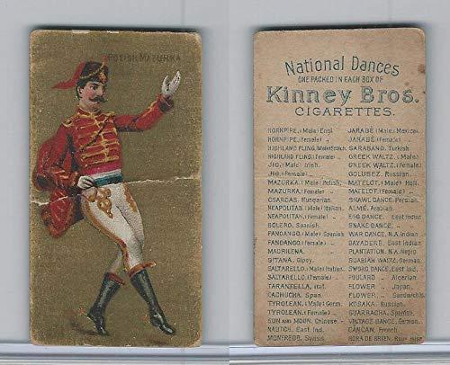 (N225B Kinney, National Dances No Border, 1889, Polish Mazurka Male )