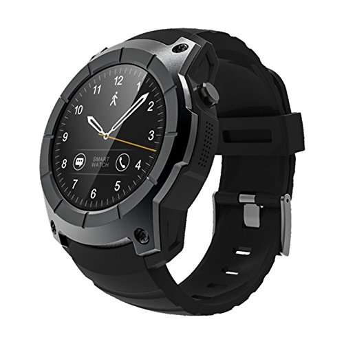 Toogoo S958 Compatible with Android IOS Phones Smart Watch Sports Waterproof Heart Rate Monitor GPS 2G SIM Card Communication Fashion Smart Watch, Black