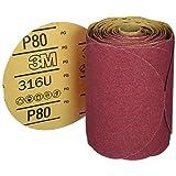 "3M 01116 Stikit Red 6"" P80D Grit Abrasive Disc"