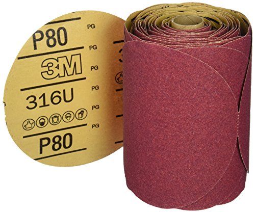 3M 01116 Stikit Red 6'' P80D Grit Abrasive Disc by 3M (Image #1)