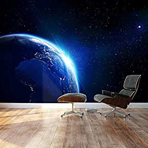 Nice Wall26   Large Wall Mural   Shining Blue Earth In Universe Viewed From Outer  Space | Self Adhesive Vinyl Wallpaper / Removable Modern Decorating Wall  Art ... Part 8