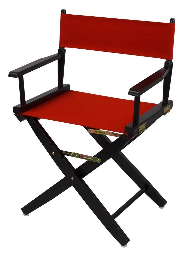 Extra-Wide Premium Directors Chair with Red Canvas