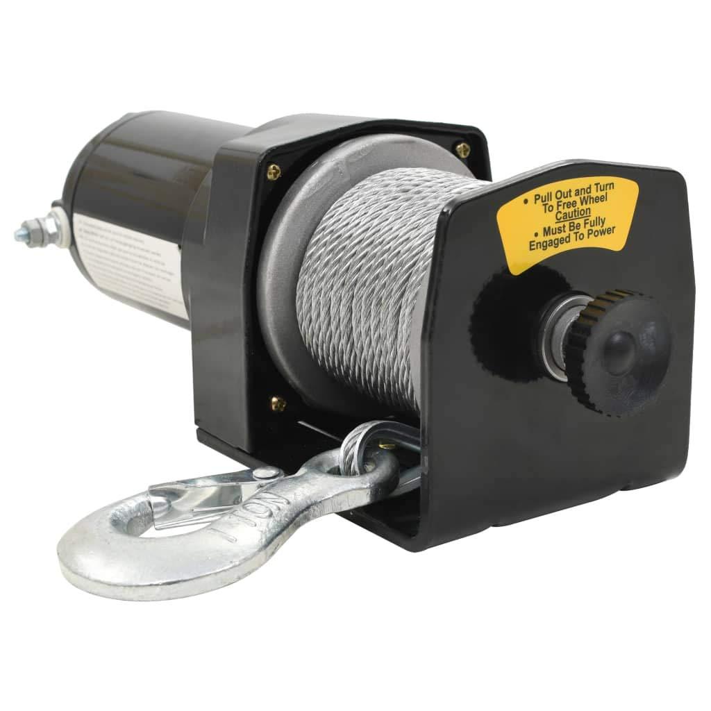 Elektrische Seilwinde 12 V 907 kg Verricello Argano Paranco elektrisch mit Fernbedienung kabellos Argano Paranco f/ür Wohnmobil Anh/änger Auto LKW Boot