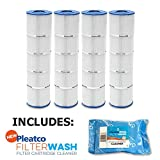 4 Pack Pleatco Cartridge Filter PJAN145-PAK4 Jandy CL 580 4 Pack w/ 1x Filter Wash