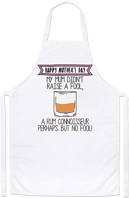 Feliz de la Madre Día Ron Experto Chefs Delantal: Amazon.es ...