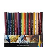 PRISMACOLOR VERITHIN Pencil, Artist Quality Hard Thin Lead Pencils, Box of 24, Assorted Colours (2427)