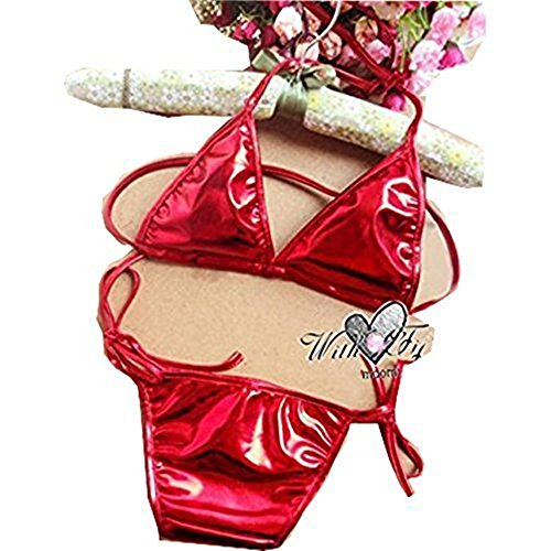 LAFIZZLENew Brand sexy Erotic Lingerie Hot 2015 Sheer Lace Thong Applique Porn Women Underwear Lady Corset Bodysuit Cheap Thing Lenceria (Red)