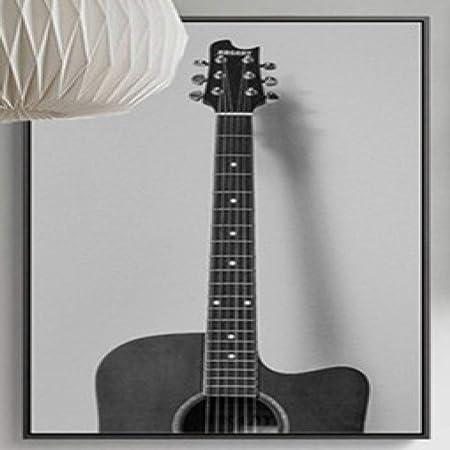 jzxjzx Pintura al óleo Retro Radio Guitarra inglés sin Marco ...