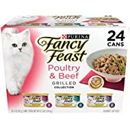 Purina Fancy Feast Gravy Wet Cat Food Variety Pack; Poultry & Beef Grilled Collection - (24) 3 oz. Cans