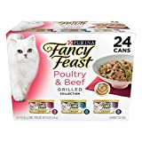 Purina Fancy Feast Poultry & Beef Collection Wet Cat Food, 24 Cans