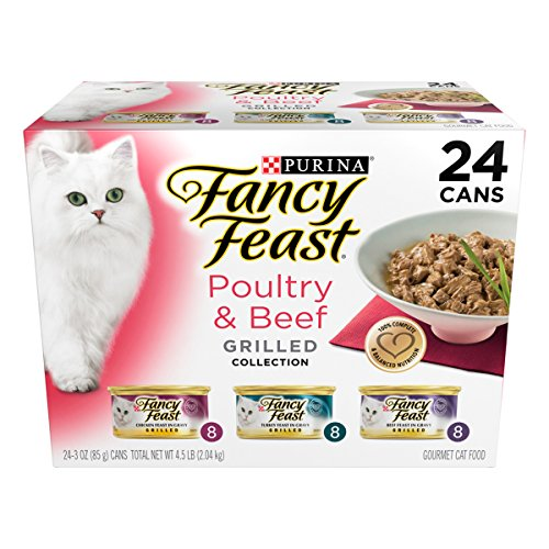 Purina Fancy Feast Gravy Wet Cat Food Variety Pack; Poultry & Beef Grilled Collection - (24) 3 oz. Cans (Fancy Feast Cat Food In Gravy)