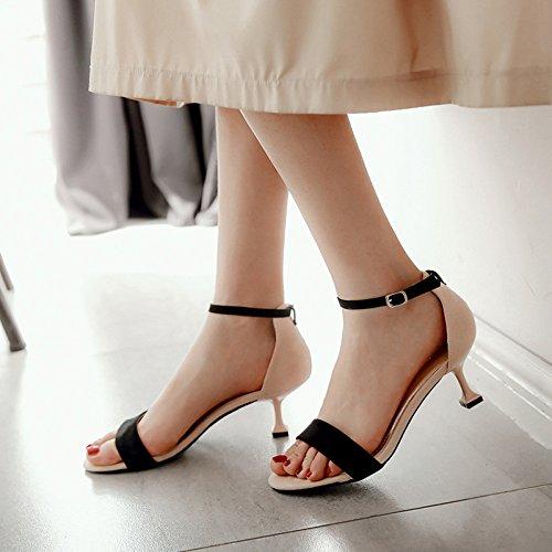 De Abierta Tacones 5Cm De Office Mujeres Señoras Ladies Shoes Work Altos Hebilla Correas Punta Wild Black Pums Para Delgadas Verano Cabezas De cy Redondas De Sandalias wW7qpxnAAv