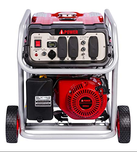 A-iPower SUA7000 7000-Watt Portable Generator Gas Powered Electric Start EPA CARB, 7000 Rated Watt/6000 Running Watt, Red