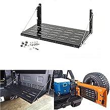 Lantsun Black Metal Multi-Purpose Flexible Tailgate Table For Jeep Wrangler JK 2007-2016(1 Set) J177