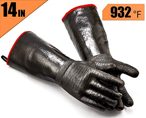 heat resistant silicon bbq gloves - 6