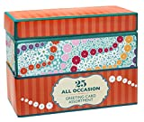 Paper Magic Handmade and Embellished All Occasion Greeting Cards with Orange Keepsake Box, 25pc